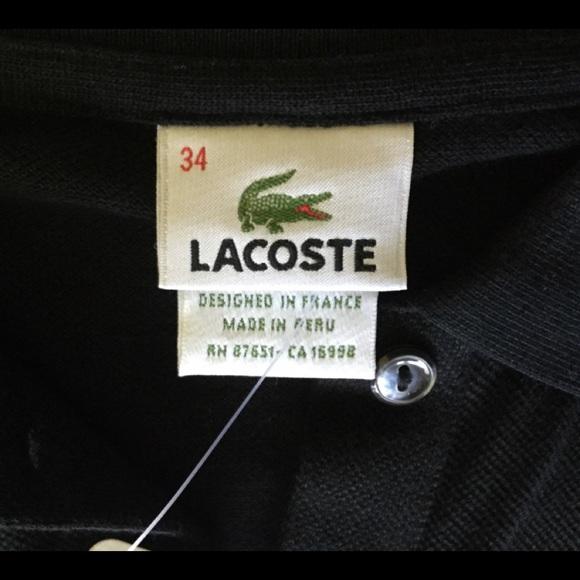 LACOSTE 2 34 Black Cotton Ext Sleeves Drop Waist